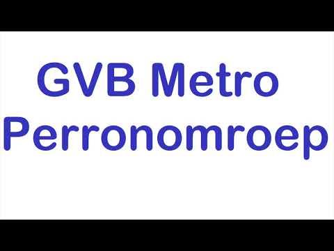 GVB Metro perron omroep Carolina Mout - Amsterdam