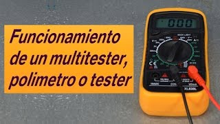 Funcionamiento de un multitester o polimetro, curso basico