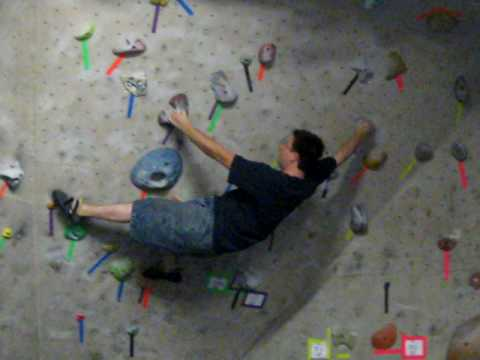 Another Problem at New Jersey Rock Gym - YouTube
