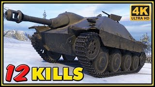Hetzer 12 Kills 1 VS 7 World Of Tanks Gameplay 4K Video