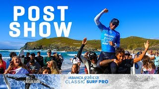 Emotional win for Pupo, Trophy Ceremony ABANCA Galicia Classic Surf Pro Post Show