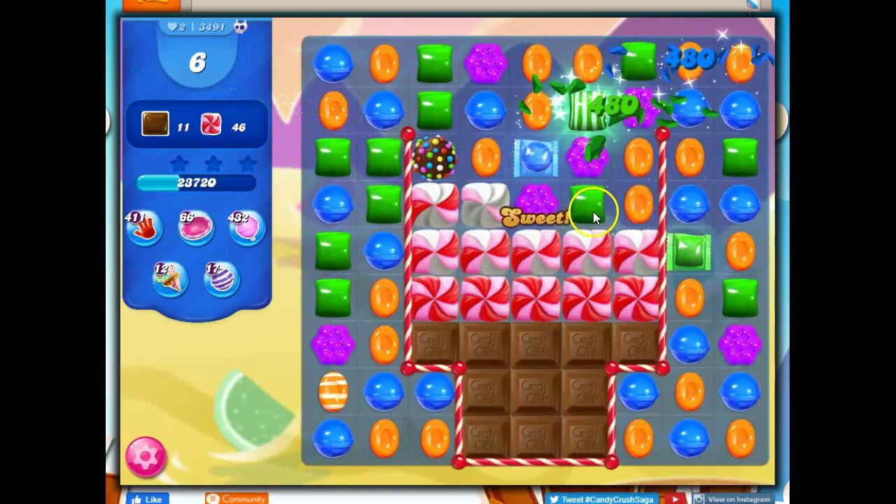 Download Candy Crush Level 3491 Talkthrough, 15 Moves 0 Boosters