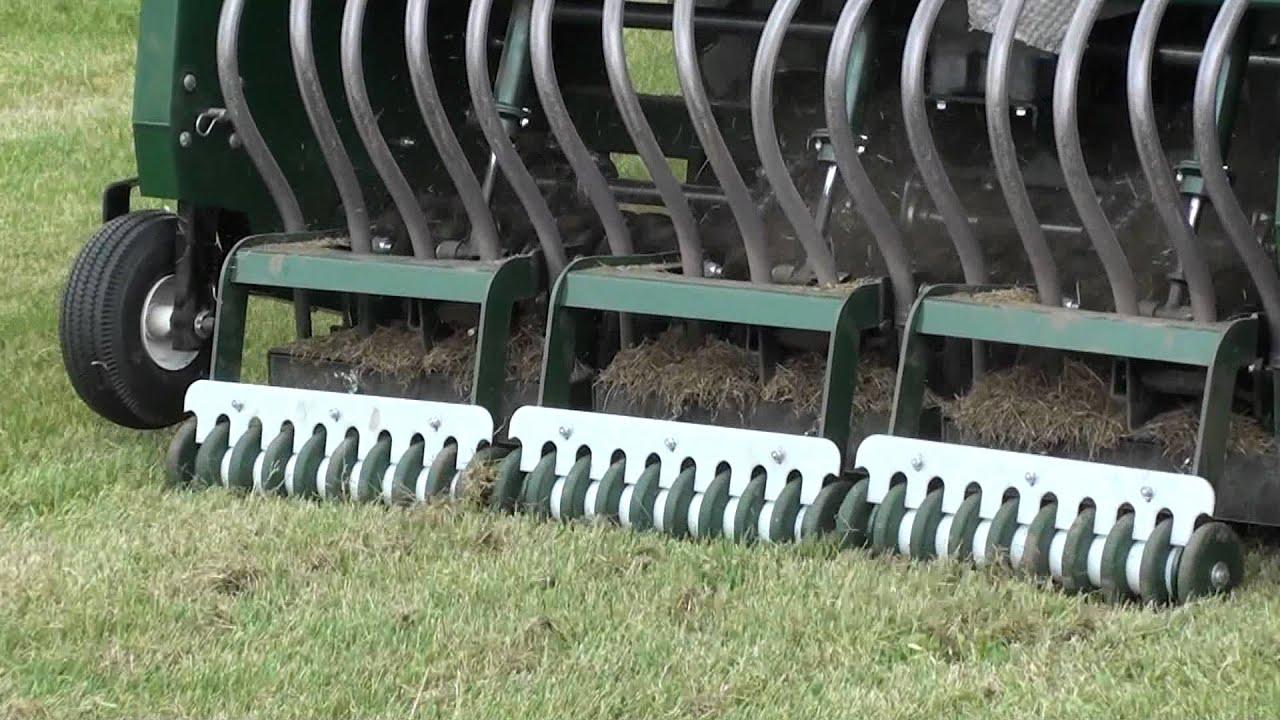 lawn seeding machine