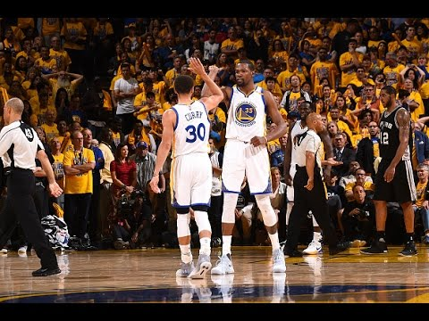 50f5bca737a Stephen Curry and Kevin Durant Combine for 74 In Game 1!