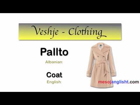 Fjalor i veshjeve ne anglisht / Meso anglisht from YouTube · Duration:  2 minutes 3 seconds