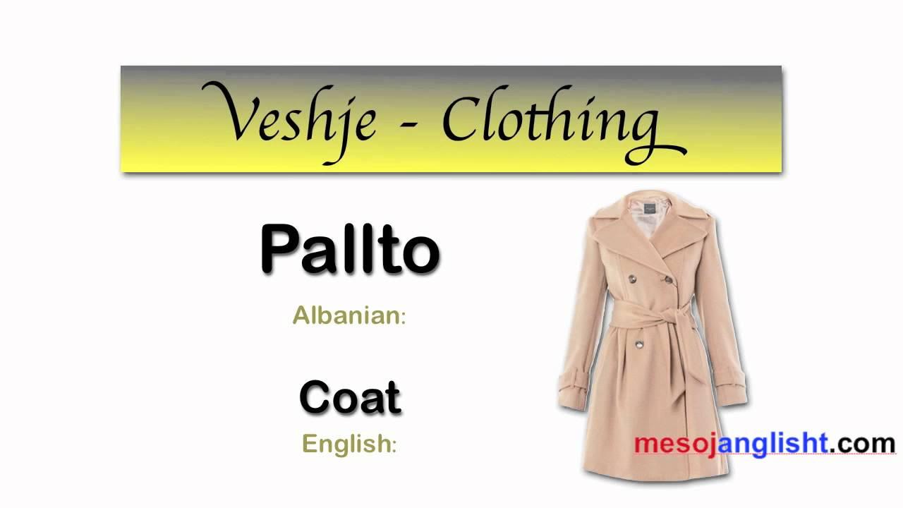 Fjalor i veshjeve ne anglisht / Meso anglisht - YouTube