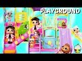 LOL Surprise Dolls Lil Sisters Play at Barbie Park