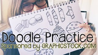 Doodle Practice with GraphicStock (Sweets and Pastry Doodles)   Doodle with Me