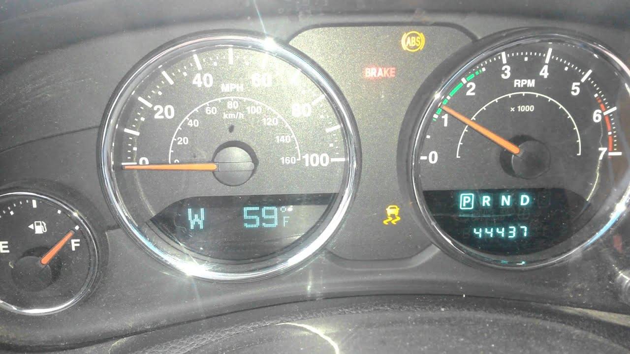 Jeep JK ABS ESP and Descent Assist lights at start