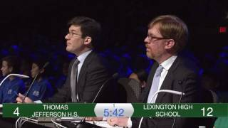 2017 National Science Bowl High School Championship Match