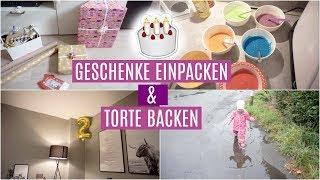 VORBEREITUNGEN für den 2. GEBURTSTAG ❘ Regenbogen Torte ❘ Milas Geschenke ❘ MsLavender