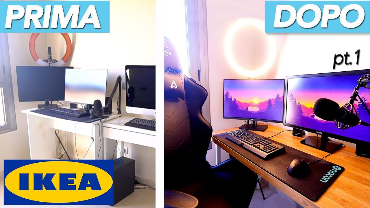 Il computer fisso è fatto di un corpo centrale a cui sono. Makeover Studio Setup Scrivania Ikea Hack Idee Per Arredare Casa Youtube