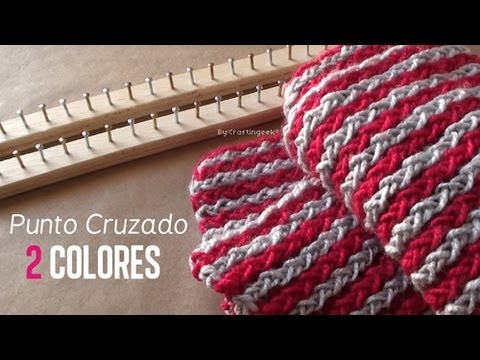 Punto Cruzado 2 Colores / Bufanda en bastido [FACIL] - YouTube