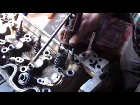 ремонт головки блока цилиндров мерседес W124 мотор М102 repair cylinder head engine M102 Mercedes W1