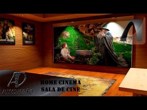 Home cinema sala de cine en casa archicad autodise o youtube - Sala de cine en casa ...
