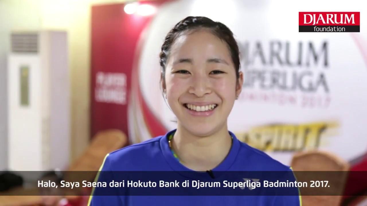 Saena Kawakami at Player s Lounge Djarum Superliga Badminton 2017