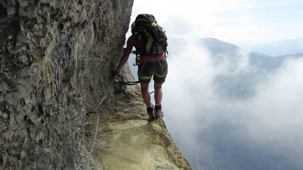 Klettersteig Daubenhorn : Via konst klettersteig leukerbad daubenhorn 18.08.13 youtube