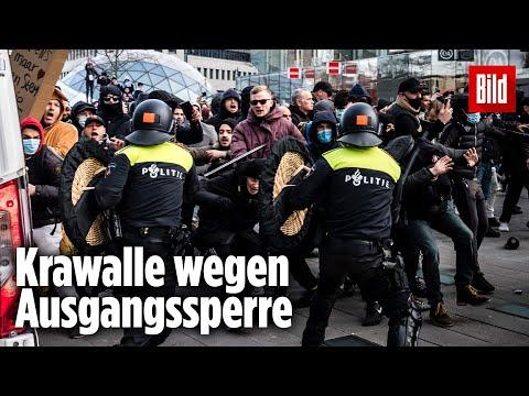 Nach schweren Corona-Ausschreitungen: Angst vor Bürgerkrieg in Holland