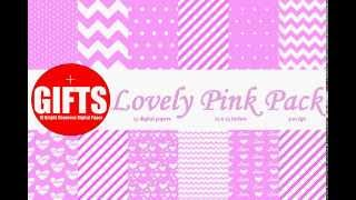 Digital Paper Pink Baby Shower Decorations Baby Girl Shower Invitation