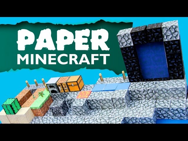 Paper Minecraft Skyblock Part 08 Nether Portal Youtube
