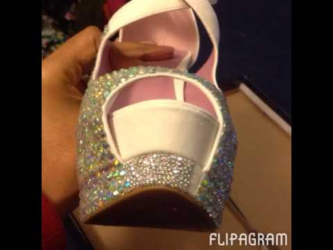 DIY BLING WEDDING SHOES
