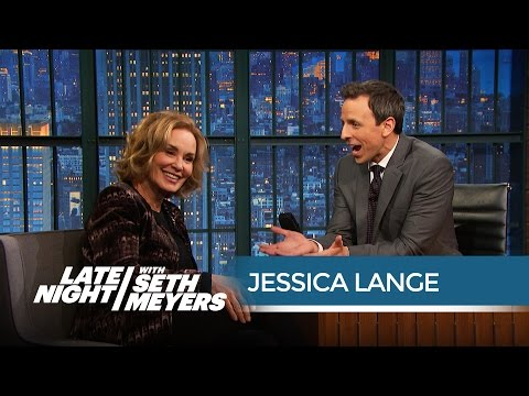 Jessica Lange Thinks Awards s Have Become a Freak   Late Night with Seth Meyers