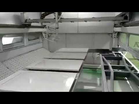 Kitchen cabinet door auto spray painting machine