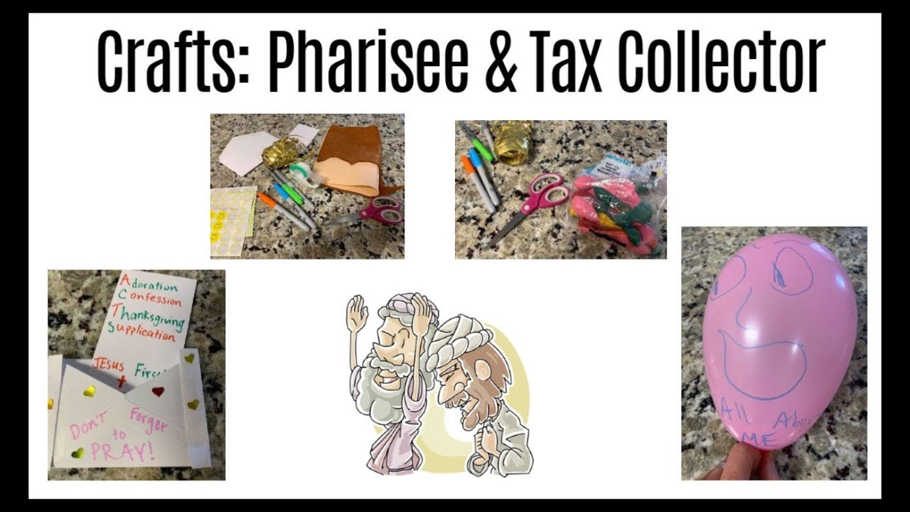 Bible Craft Activities: The Pharisee and the Tax Collector |  Ministry-To-Children