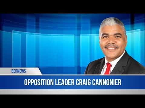 Opposition Leader Craig Cannonier In The House, May 10 2019