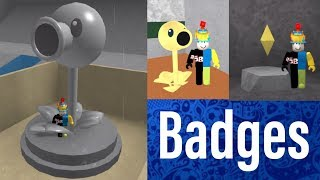 All Badges!! | Plants Vs Zombies Museum | Roblox