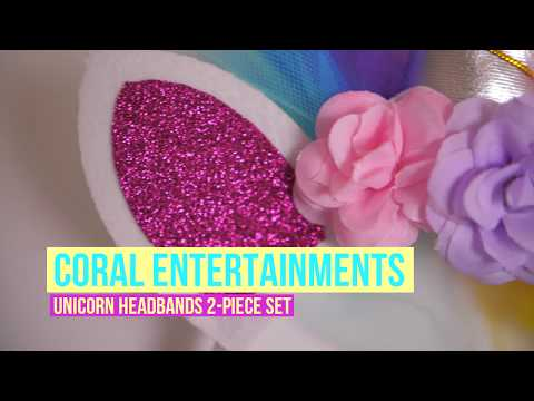 Coral Entertainments LED Unicorn Headband 2 Piece Set