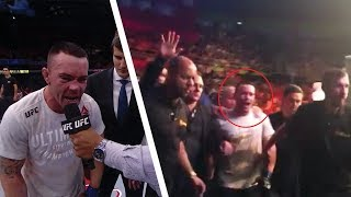 """ANGRY BRAZILIAN FANS THROWS OBJECTS AT COLBY COVINGTON FOR CALLING THEM """"FILTHY ANIMALS"""""""