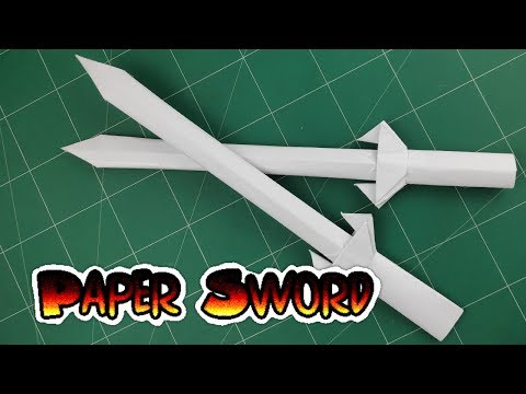 DIY Paper Weapon | How to Make Mini Stiletto Sword Tutorials | Origami Easy Crafts Toy kids