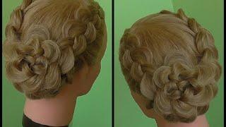 Причёска из кос. Видео-урок.(Причёска из кос с цветком. Видео-урок. Делаем быстро и с удовольствием., 2014-10-30T17:05:46.000Z)