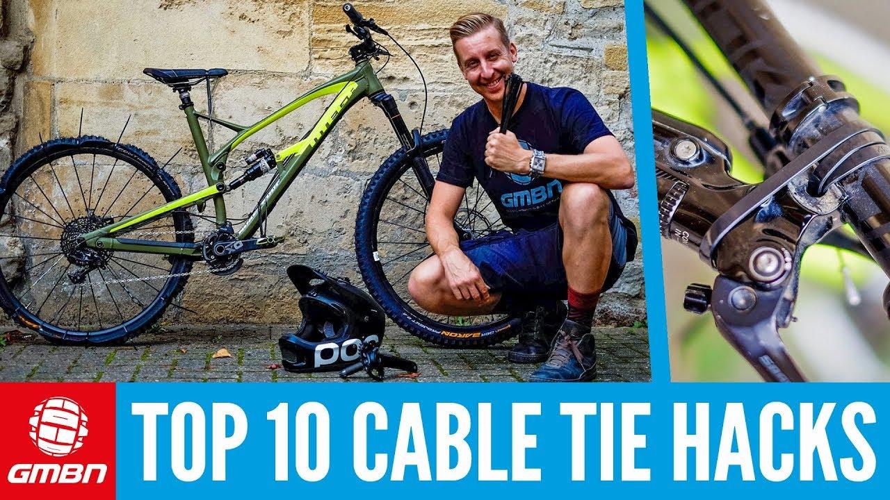 lac10 Pc Black Mountain Bike Organizer Brake Cable line bicycle MTB twist clips