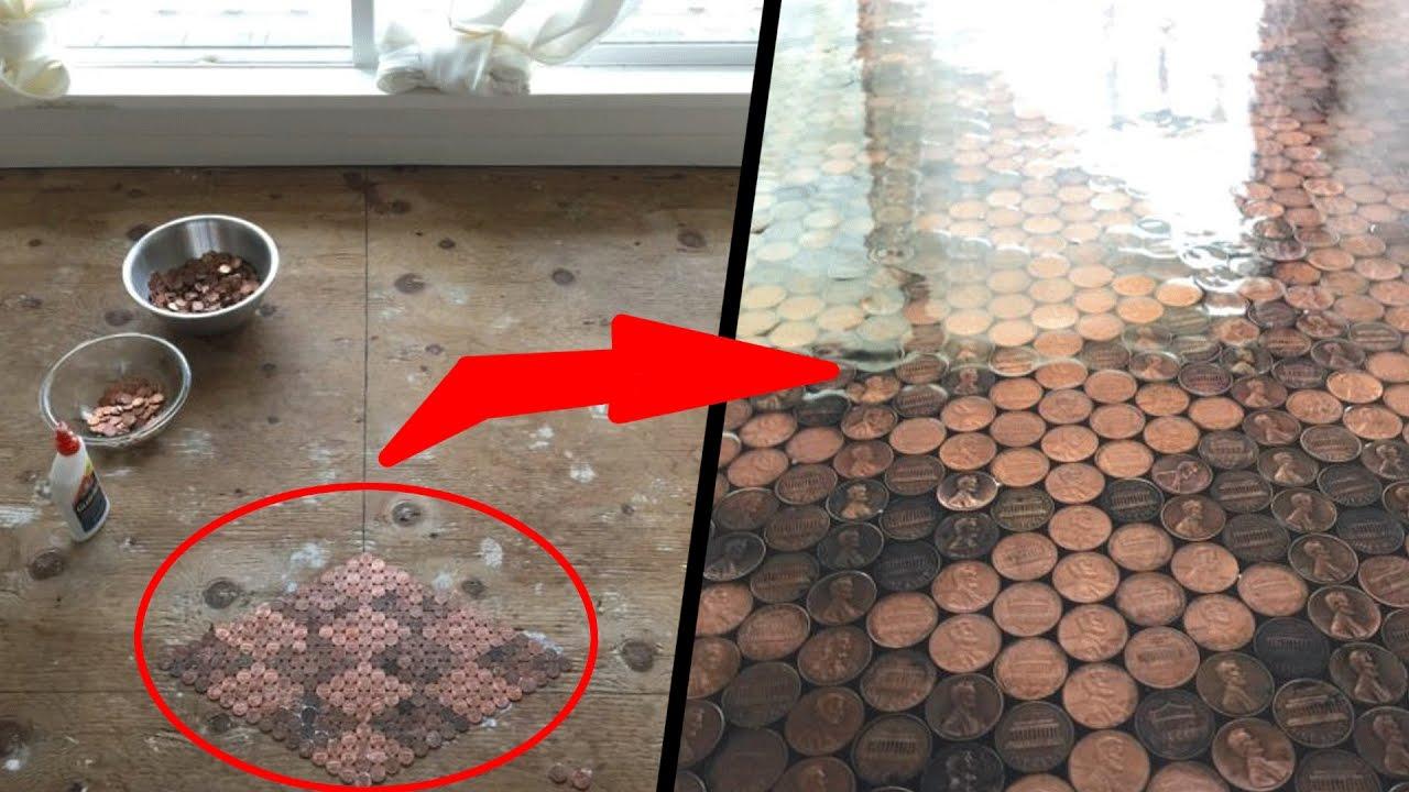 Decor su piso con monedas y el resultado es impresionante for Decorar mi piso