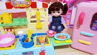 Baby doll kitchen food shop play
