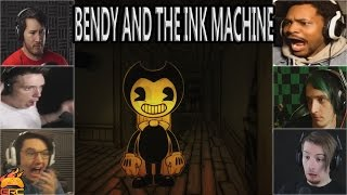 Gamers Reactions to Bendy Appearing Around The Corner | Bendy and The Ink Machine