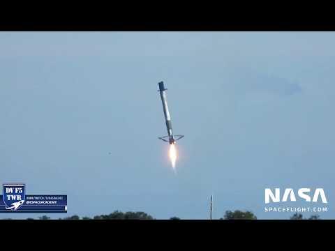 SpaceX CRS-16 Falcon Landing Attempt 4.8 Miles Nikon P1000