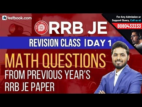 Math Questions from RRB JE Previous Year Papers   RRB JE CBT 1 Revision Class Day 1   Sumit Sir