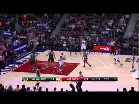 Kyle Korver 11pts in 65 seconds! Look at Jason Kidd Face