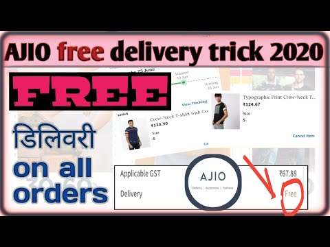 ajio free delivery trick on all product old and new user.