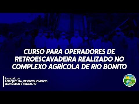 CURSO PARA OPERADORES DE RETROESCAVADEIRA REALIZADO NO COMPLEXO AGRÍCOLA DE RIO BONITO