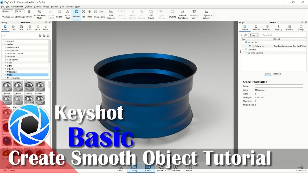 How To Import Smooth Object From AutoCAD To Keyshot