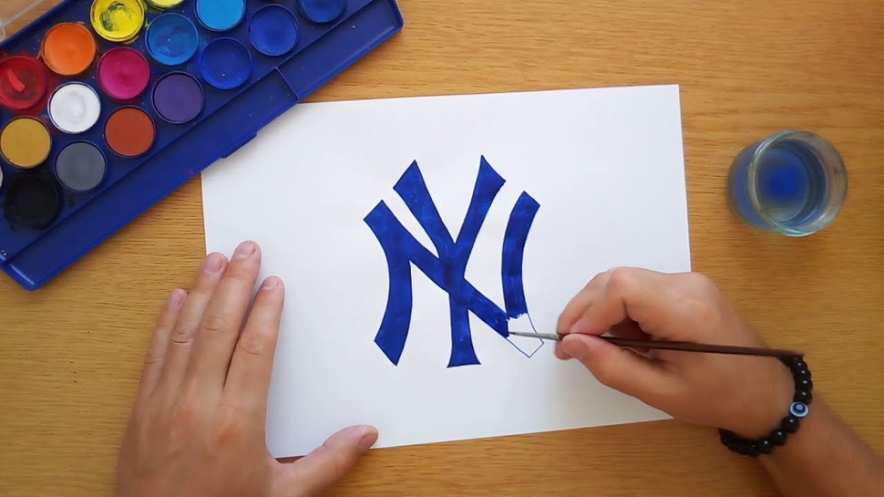 How to draw a New York Yankees logo (Logo drawing) - YouTube