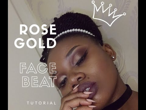 Rose Gold FACE BEAT Tutorial   South African Lifestyle Blogger