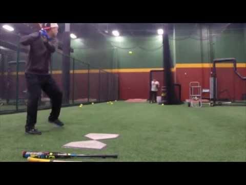 Seniors Batting Practice at D-Bat
