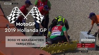 Rossi ve Nakagami'den Kaza! (MotoGP 2019 - Hollanda Grand Prix)