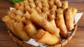 Cách làm CHẢ GIÒ CHAY VÀNG THƠM GIÒN RỤM - Món Ăn Ngon