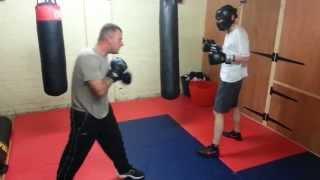 White collar boxing training.....David Free